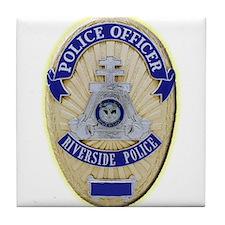 Riverside Police Officer Tile Coaster