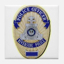 Riverside Police Officer Tile Coaster