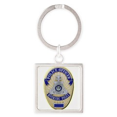 Riverside Police Officer Square Keychain