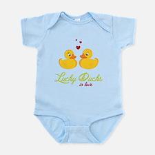 Lucky Ducks In Love Infant Bodysuit