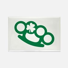 Brass knuckles shamrock irish Rectangle Magnet