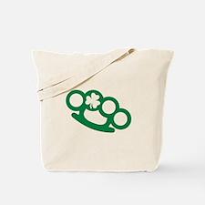 Brass knuckles shamrock irish Tote Bag