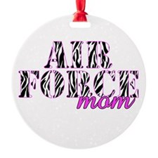 Air Force Mom Zebra Ornament
