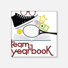 "Team Yearbook Square Sticker 3"" x 3"""