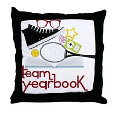 Team Yearbook Throw Pillow
