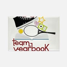 Team Yearbook Rectangle Magnet