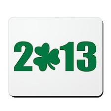 St. Patrick's day 2013 shamrock Mousepad