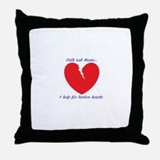 Cath Lab Nurse Throw Pillow