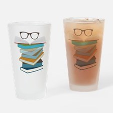 Stack Of Books Drinking Glass