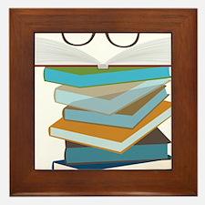 Stack Of Books Framed Tile