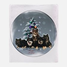 Finnish Lapphund Christmas Throw Blanket