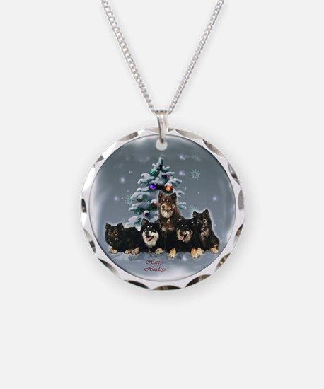 Finnish Lapphund Christmas Necklace