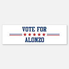 Vote for ALONZO Bumper Bumper Bumper Sticker