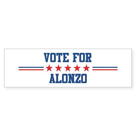 Vote for ALONZO Bumper Sticker