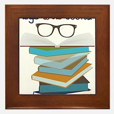 Eye Love Books Framed Tile