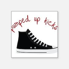 "Pumped Up Kicks Square Sticker 3"" x 3"""