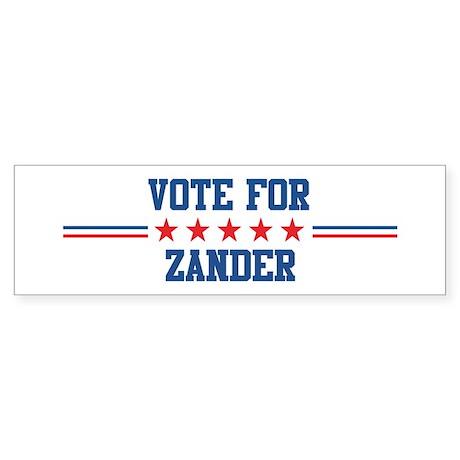 Vote for ZANDER Bumper Sticker