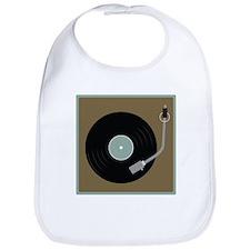 Record Player Bib