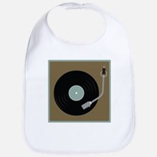 Record Player Bib