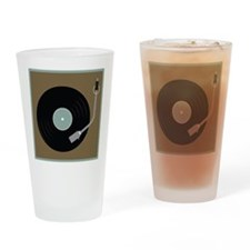 Record Player Drinking Glass