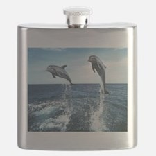 Dolphins In The Ocean Flask