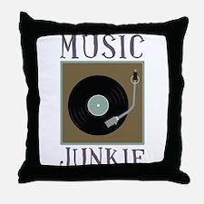 Music Junkie Throw Pillow