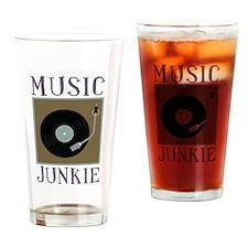 Music Junkie Drinking Glass
