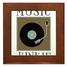 Music Junkie Framed Tile