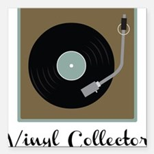 "Vinyl Collector Square Car Magnet 3"" x 3"""