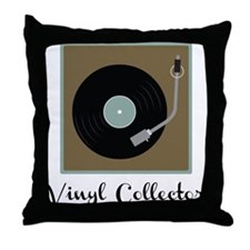 Vinyl Collector Throw Pillow