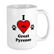 I Heart My Great Pyrenee Mug