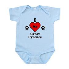 I Heart My Great Pyrenee Infant Bodysuit