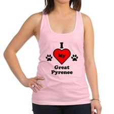 I Heart My Great Pyrenee Racerback Tank Top