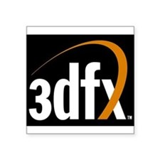 3dfx Interactive Inc Corporate Logo Square Sticker