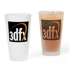 3dfx Interactive Inc Corporate Logo Drinking Glass