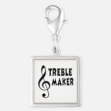 Treble Maker Silver Square Charm