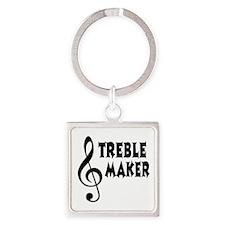 Treble Maker Square Keychain