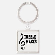 Treble Maker Square Keychain