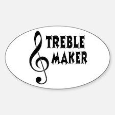 Treble Maker Sticker (Oval)