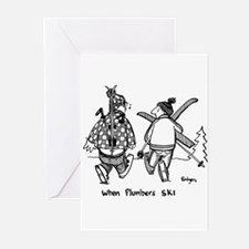 Cute Skiing Greeting Cards (Pk of 10)