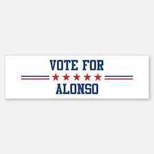 Vote for ALONSO Bumper Bumper Bumper Sticker