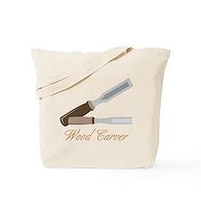 Wood Carver Tote Bag
