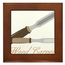 Wood Carver Framed Tile