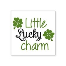 "Little lucky charm Square Sticker 3"" x 3"""