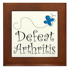 Defeat Arthritis butterfly Framed Tile