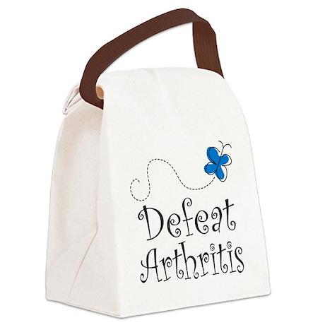 Defeat Arthritis butterfly Canvas Lunch Bag