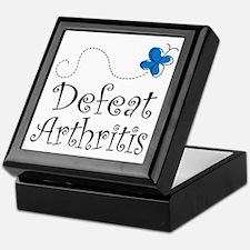 Defeat Arthritis butterfly Keepsake Box