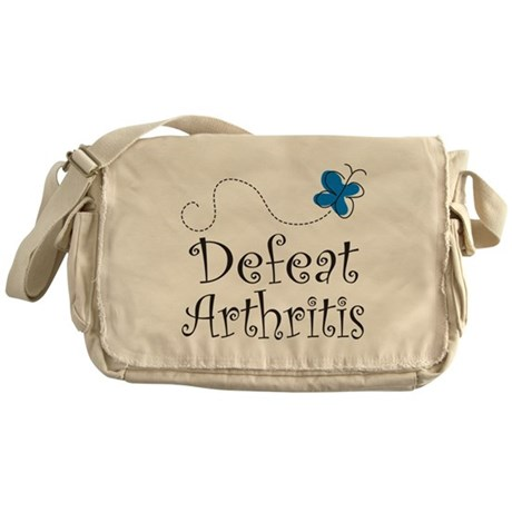 Defeat Arthritis butterfly Messenger Bag