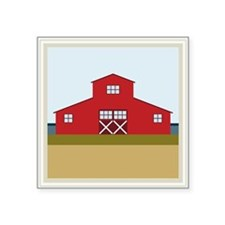 "Barn Square Sticker 3"" x 3"""