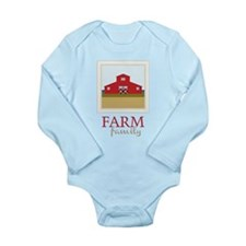 Farm Family Long Sleeve Infant Bodysuit
